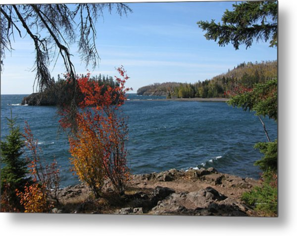 Lake Superior In The Fall Metal Print