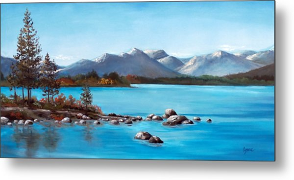 Lake Tahoe Blues Metal Print