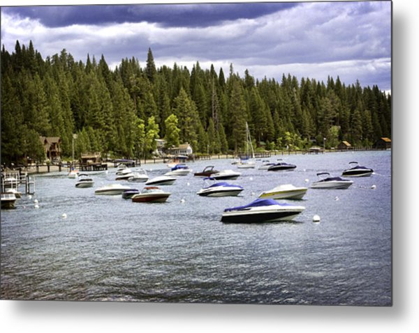 Metal Print featuring the photograph Lake Tahoe Boats by William Havle