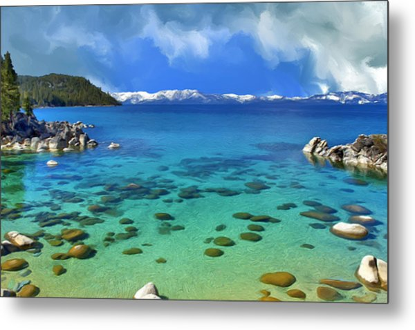 Lake Tahoe Cove Metal Print