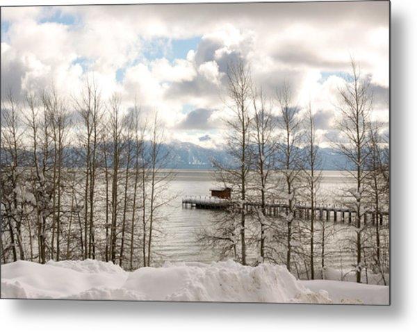Lake Tahoe In Winter Metal Print by Denice Breaux