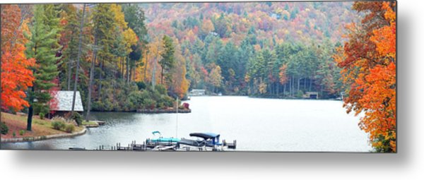 Lake Toxaway In The Fall Metal Print