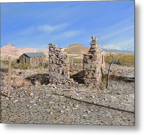 Lake Valley-new Mexico  Metal Print