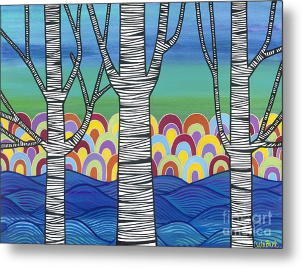 Metal Print featuring the painting Lake View by Carla Bank