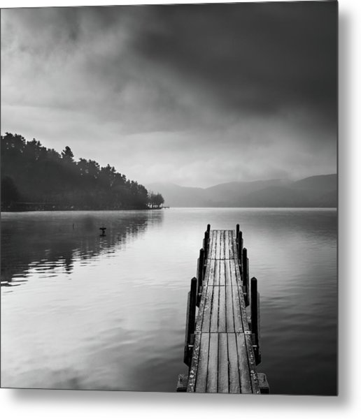 Lake View With Pier II Metal Print