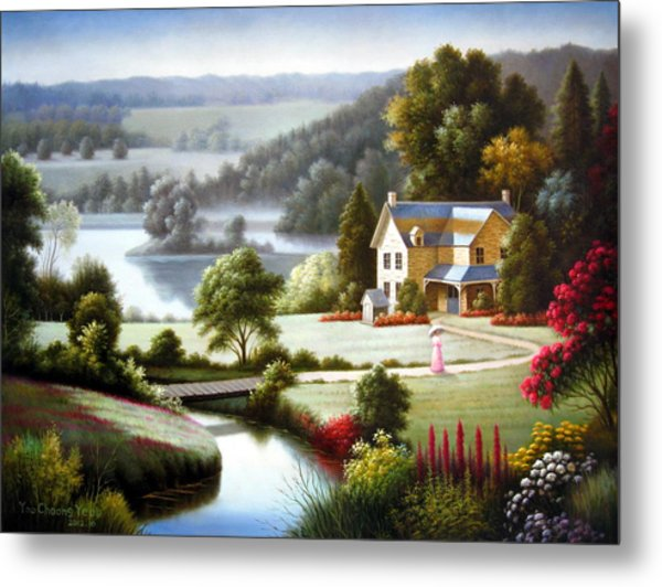 Lake Villa Metal Print