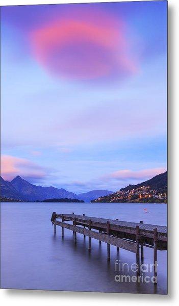 Lake Wakatipu Queenstown New Zealand Metal Print