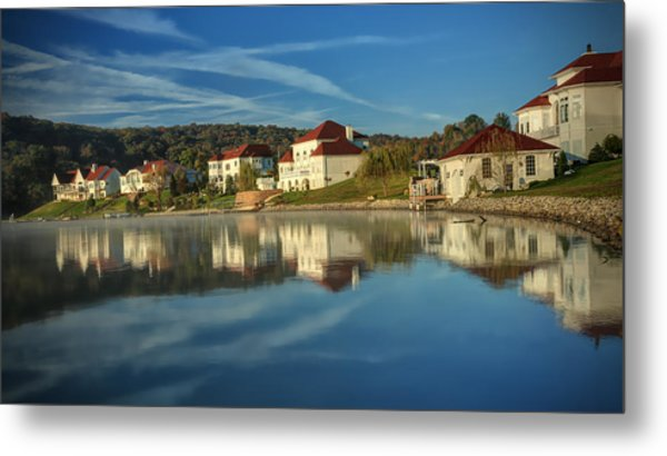 Lake White Morning Metal Print