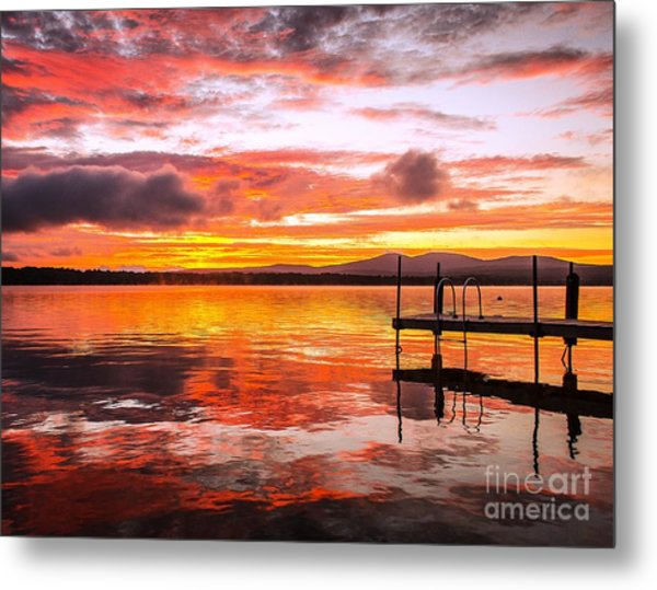Lake Winnisquam Sunrise Metal Print