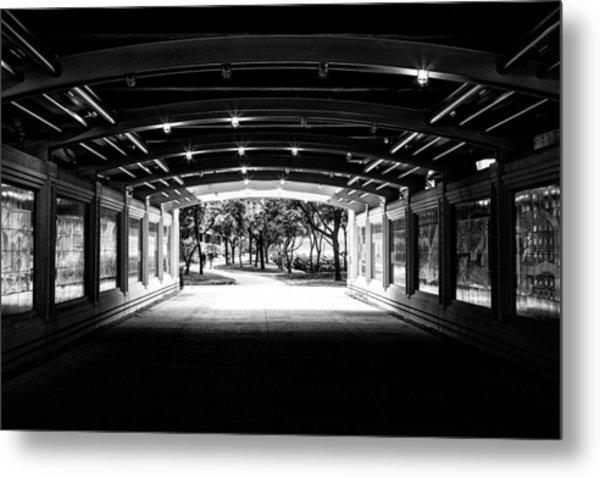 Lakeshore Tunnel Metal Print