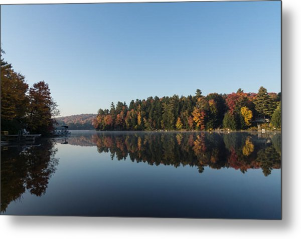 Lakeside Cottage Living - Peaceful Morning Mirror Metal Print