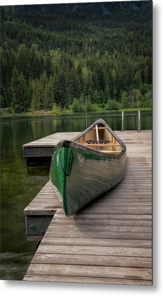 Lakeside Peace Metal Print