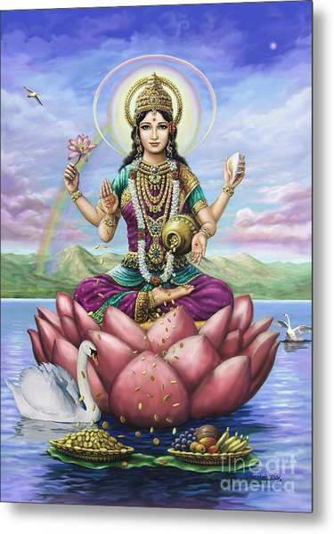 Lakshmi Goddess Of Fortune Metal Print