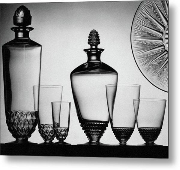 Lalique Glassware Metal Print