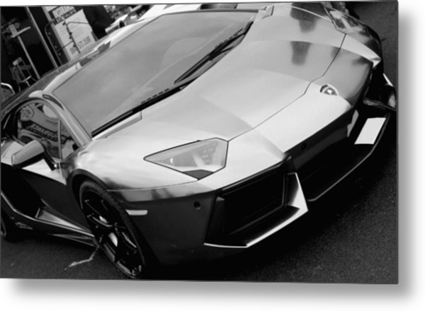 Black And White Shine Metal Print