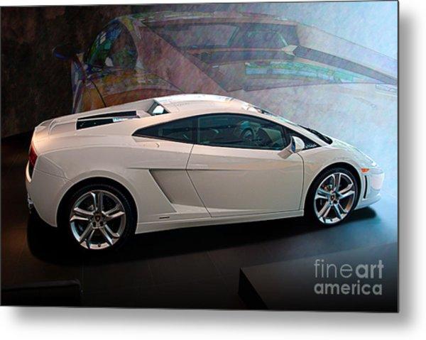 Lamborghini Gallardo Lp550-2 Side View Metal Print