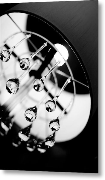 Lamp Abstract Metal Print by Rebecca Cozart