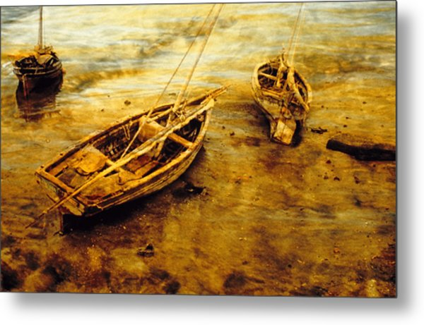 Lamu Dhows Metal Print