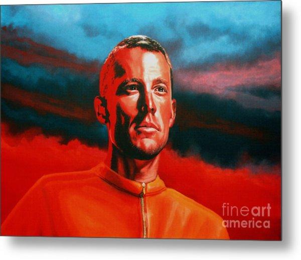 Lance Armstrong 2 Metal Print