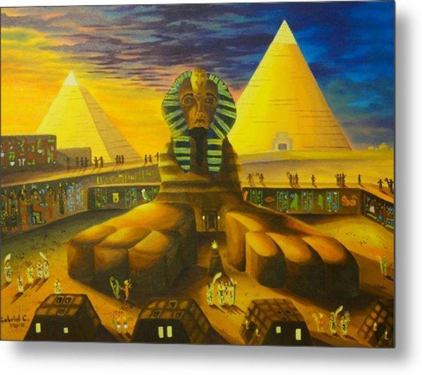 Land Of Pharaohs Metal Print
