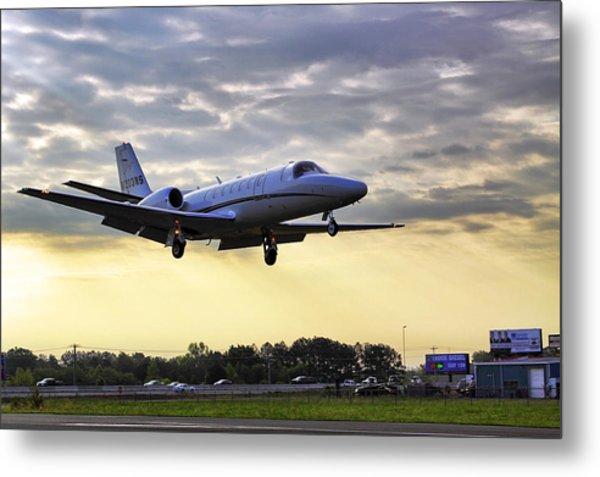 Landing At Sunrise Metal Print