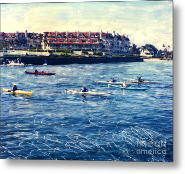 Landing Kayaking Metal Print