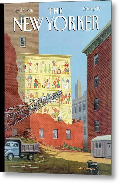 Landmarks Commission To Meet In Special Session Metal Print by Bruce McCall