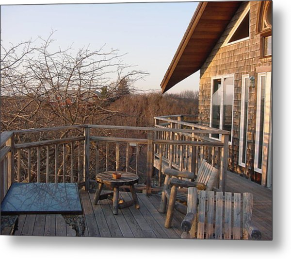Lands End Inn Provincetown Metal Print by Mike McCool