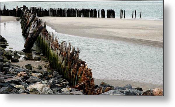 Landscape At Ocean Metal Print