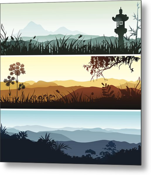 Landscape Banners Metal Print by Bettafish