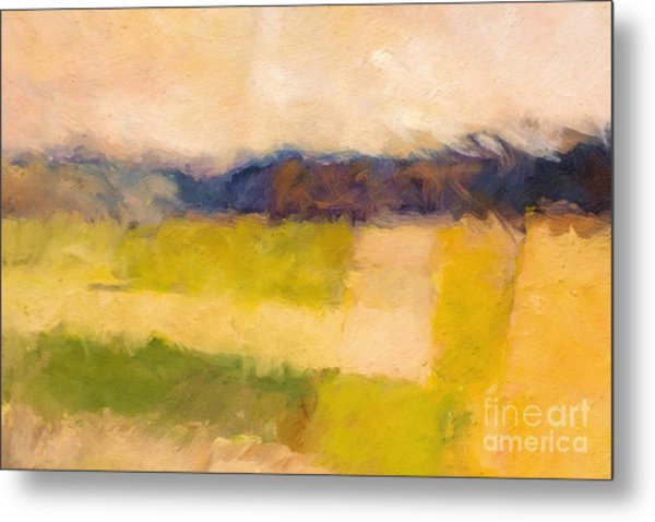 Landscape Abstract Impression Metal Print