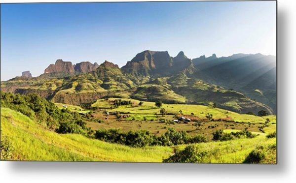 Landscape Near The Escarpment Metal Print