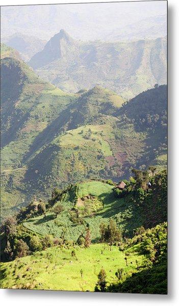 Landscape North Of Gondar, Ethiopia Metal Print