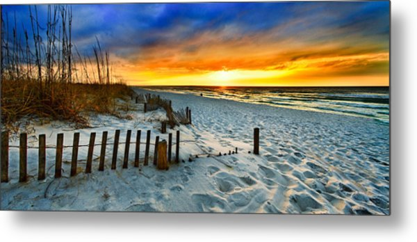 Landscape Sunrise Panorama Metal Print