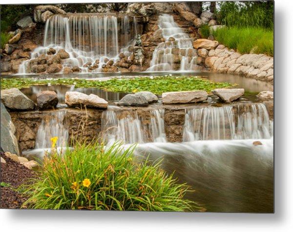 Landscape Waterfall Metal Print