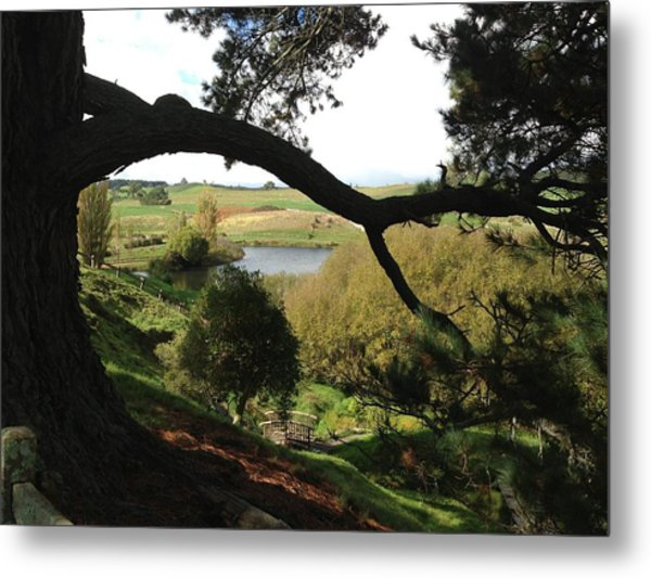 Landscape With Water Metal Print by Ron Torborg