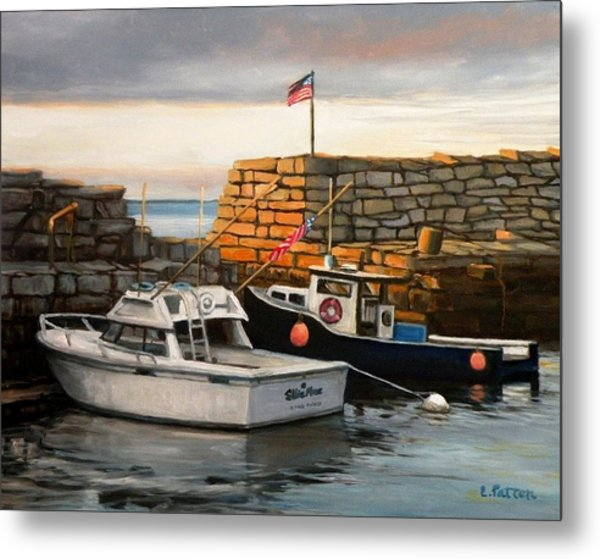 Lanes Cove Fishing Boats Metal Print
