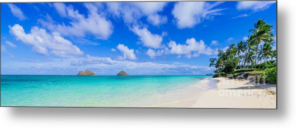 Lanikai Beach Tranquility 3 To 1 Aspect Ratio Metal Print