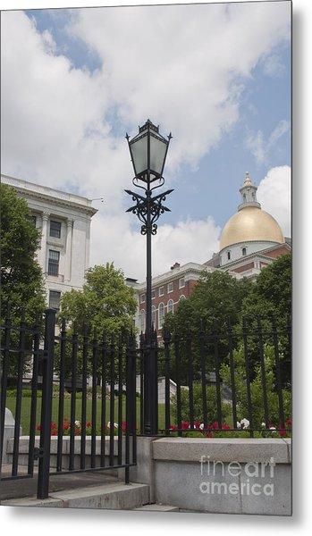Lantern At State House Metal Print