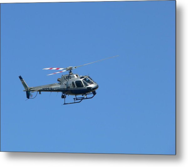 Lapd Helicopter Metal Print