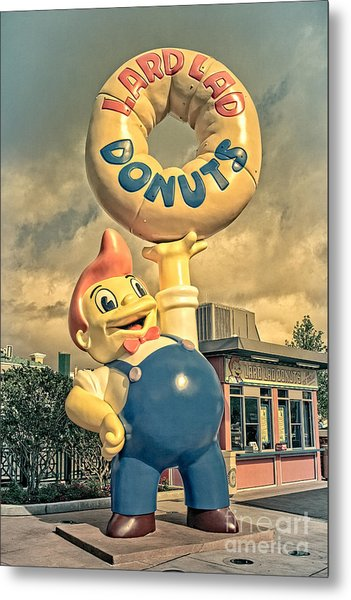 Metal Print featuring the photograph Lard Lad Donuts by Edward Fielding