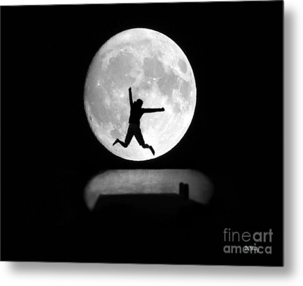Large Leap For Mankind Metal Print