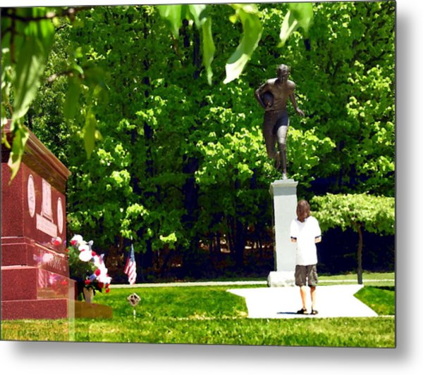 Larger Than Life - Jim Thorpe Monument Metal Print by Jacqueline M Lewis