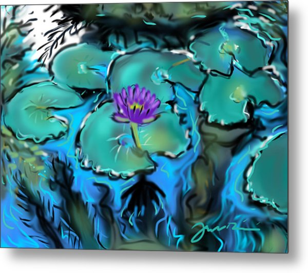 Largo Waterlilies Metal Print