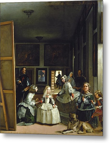 Las Meninas Or The Family Of Philip Iv, C.1656  Metal Print