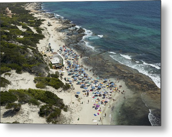 Las Salinas Beach From The Zenith Ibiza Metal Print by Xavier Durán