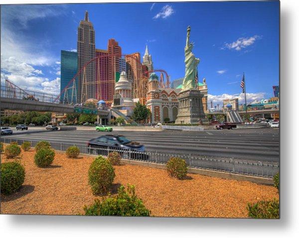Las Vegas New York New York Metal Print