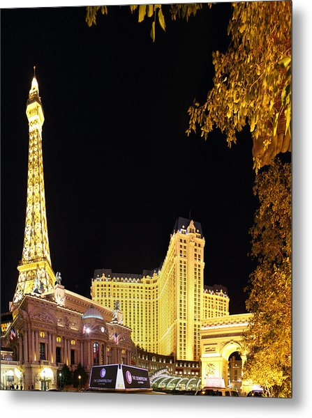 Las Vegas - Paris Casino - 01132 Metal Print by DC Photographer