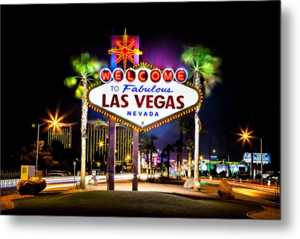 Las Vegas Sign Metal Print