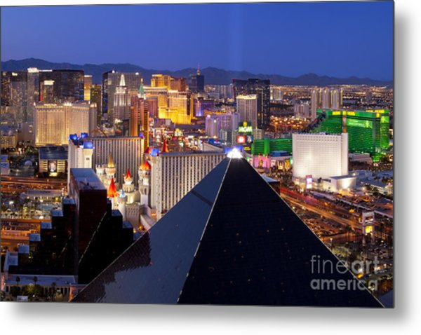 Metal Print featuring the photograph Las Vegas Skyline by Brian Jannsen